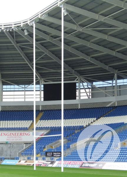 Aluminium Rugby Posts - 12m Socketed
