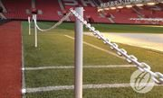1m High Pitch Protection Barrier Upright