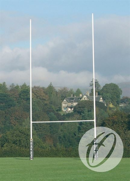 12m Socketed No. 1 Steel Rugby Posts