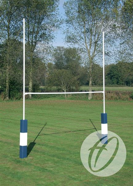 7m Hinged Heavy Duty Steel Rugby Posts